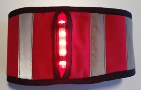LED Personen Beleuchtung Sichtbarkeit bei Dämmerung & Dunkelheit rot