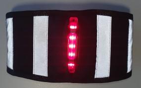 LED Personen Beleuchtung Sichtbarkeit bei Dämmerung & Dunkelheit schwarz