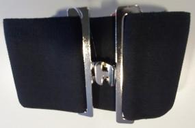 Deckengurt für Pferde - schwarz - elastisch mit T-Verschluss, stufenlos verstellbar