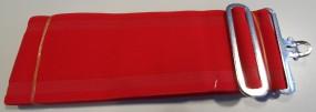 Deckengurt für Pferde - rot - elastisch mit T-Verschluss, stufenlos verstellbar