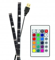 Barkan L15 TV LED Ambientebeleuchtung RGB Farbwechsel 2x50cm