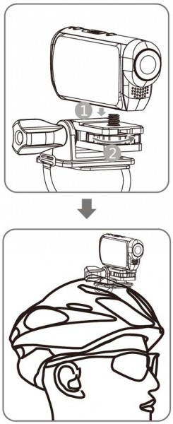 high end action camera mit helmhalterung und wasserdichtem. Black Bedroom Furniture Sets. Home Design Ideas